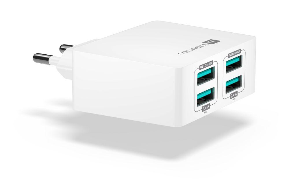 Connect IT Fast Charge CWC-4010-WH, bílý - Nabíječka Connect IT CWC-4010 - neoriginální