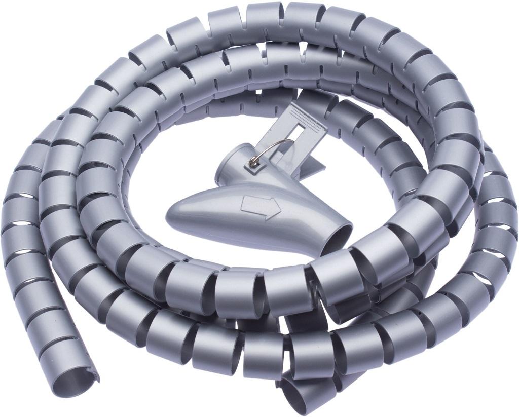 Connect IT trubice pro vedení kabelů WINDER šedá 2.5m x 20mm CI-680