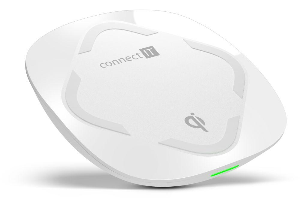 CONNECT IT Qi CERTIFIED Fast bezdrátová nabíječka, 10 W, bílá CWC-7500-WH - Nabíječka CONNECT IT CWC-7500 - neoriginální