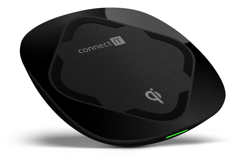 CONNECT IT Qi CERTIFIED Fast bezdrátová nabíječka, 10 W, černá CWC-7500-BK - Nabíječka CONNECT IT CWC-7500 - neoriginální