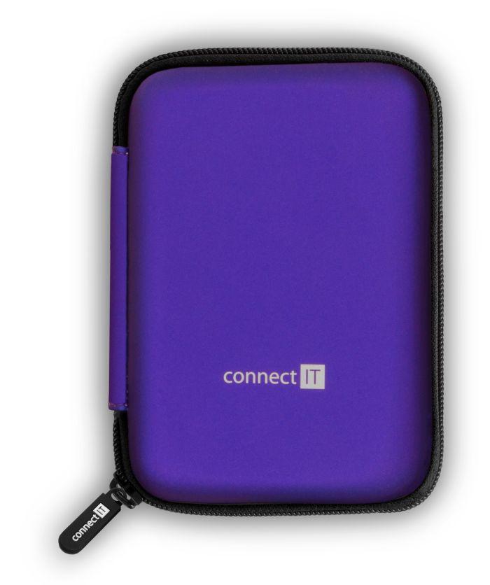 """Connect IT HardShellProtect pevné skořepinové ochranné pouzdro na 2,5"""" HDD, modré, CFF-5000-BL - Connect IT HardShellProtect 2.5"""" modré CFF-5000-BL"""