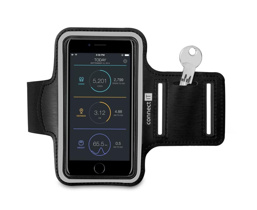 Connect IT CFF-1150, pouzdro na mobilní telefon, černé