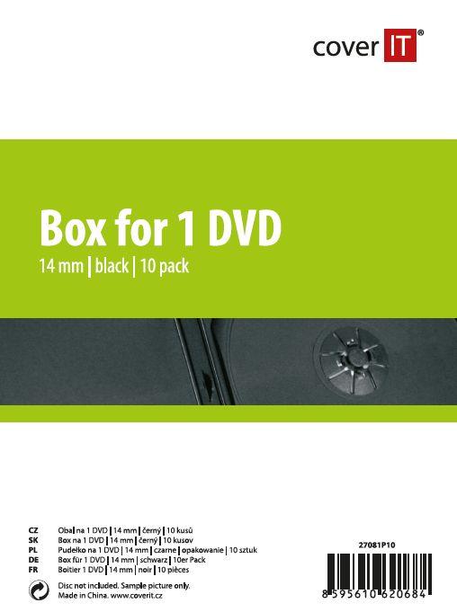 Cover IT Krabička na 1ks, černá, 14mm,10ks/bal