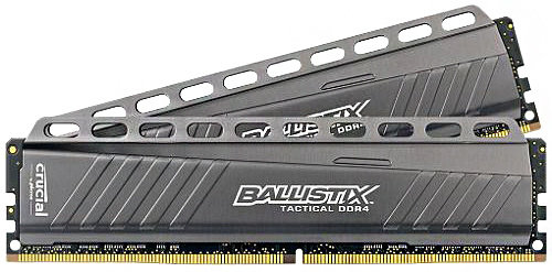 CRUCIAL 16GB DDR4-2666MHz Ballistix Tactical CL16 DRx8, kit 2x8GB BLT2C8G4D26AFTA