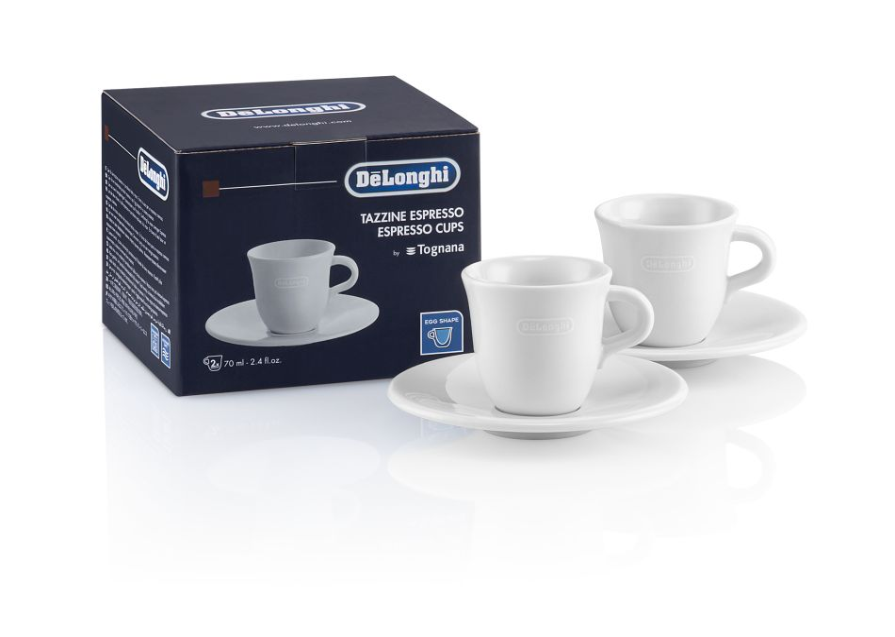 De'Longhi DLSC308 - De'Longhi DLSC308 porcelánové šálky 2 x 70 ml