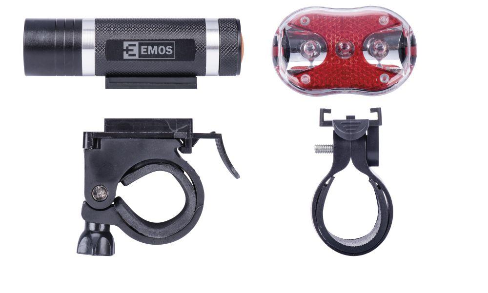 Emos Svítilna na kolo SET 1+3x LED, na 3+2x AAA, přední+zadní - Emos P3920 sada