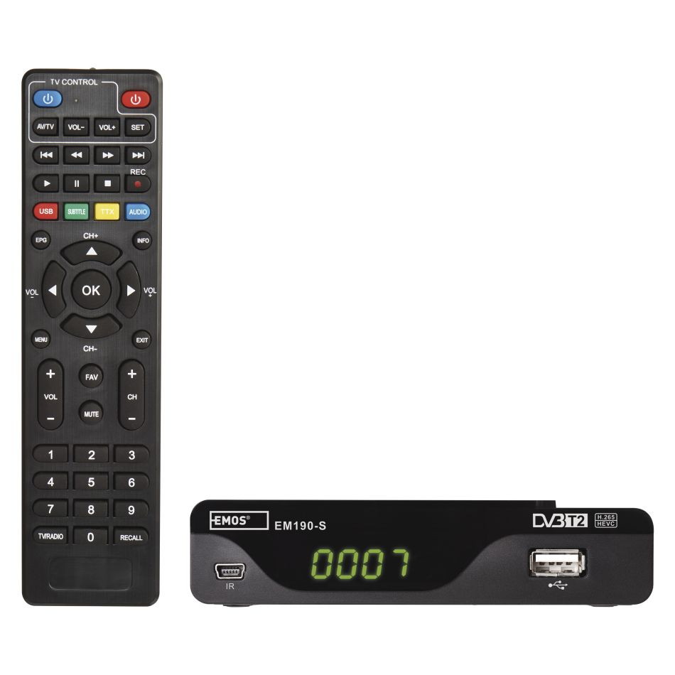 Emos DVB-T2 EM190-S HD HEVC H265