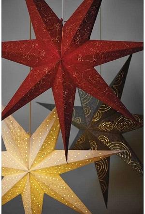 LED vánoční hvězda papírová stříbrná, ZY2248
