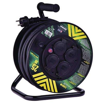 EMOS gumový prodlužovací kabel na bubnu - 4 zásuvky 25m + DOPRAVA ZDARMA