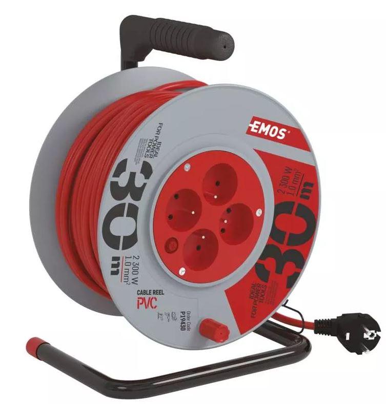 Emos prodlužovací kabel na bubnu 30m