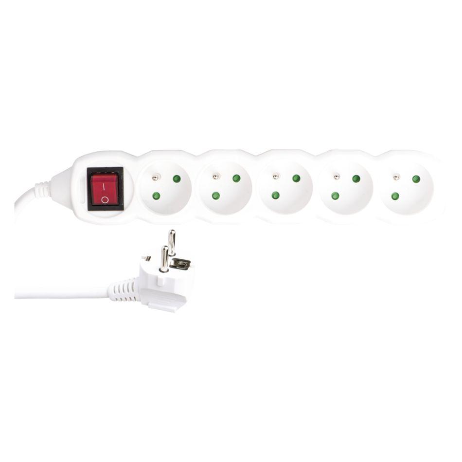 Emos Prodlužovací kabel s vypínačem – 5 zásuvek, 3m, 3x 1,5mm2