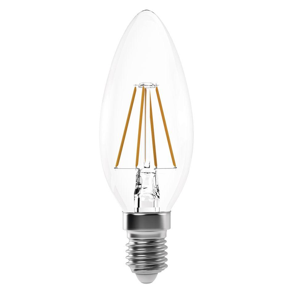 Emos Úsporná žárovka LED Filament Candle A++ 4W patice E14 neutrální bílá