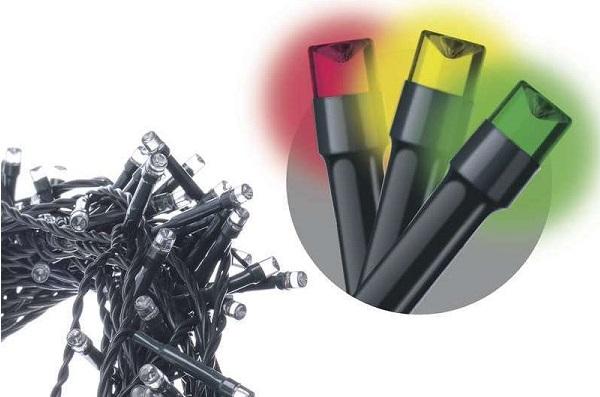 EMOS LED vánoční řetěz, 18m, multicolor, programy, ZY1452