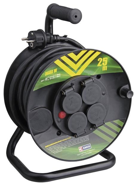 EMOS P084251 Gumový prodlužovací kabel na bubnu - 4 zásuvky 25m