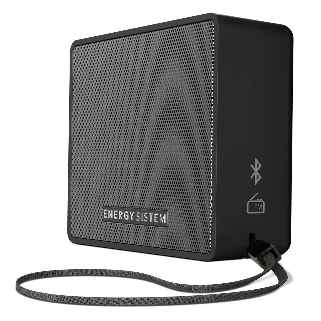 ENERGY Music Box 1+ Slate, přenosný Bluetooth reproduktor, MP3, FM rádio, audio vstup, 5W