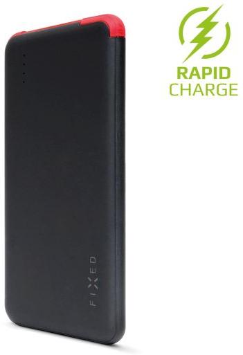 Powerbanka FIXED Zen Slim 5000 s microUSB kabelem a adaptéry USB Type-C + Lightning, 5000 mAh, černá - FIXED FIXPB-SLI50-BK