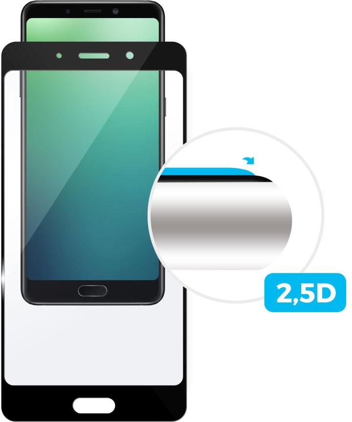 Ochranné tvrzené sklo FIXED Full-Cover pro Samsung Galaxy A6, přes celý displej, černé, 0.33 mm - FIXED pro Samsung Galaxy A6 FIXGF-311-BK