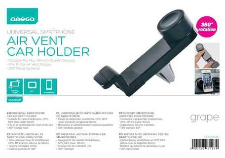Omega držák GSM do mřížky ventilace - Držák smartphonu, GPS - GRAPE /mřížky ventilátoru/