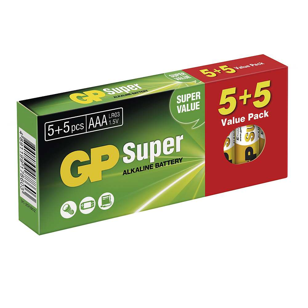 GP Super Alkaline 10 pack AAA