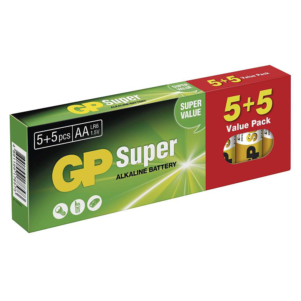 GP Super Alkaline 10 pack AA