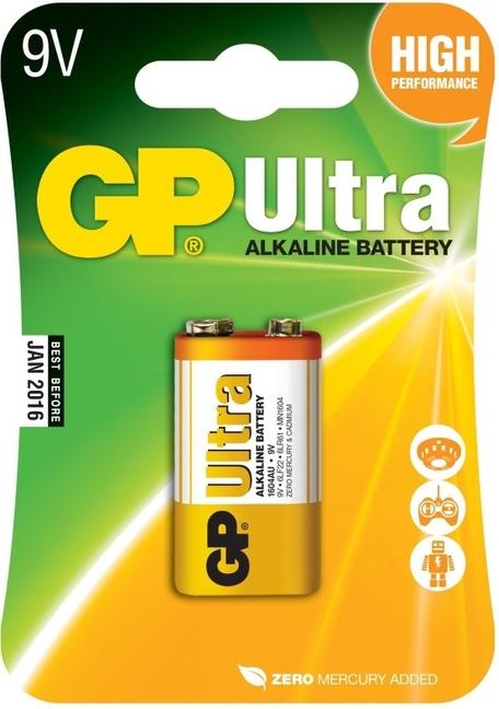 GP B1951 1604AU 9V blistr06 - Baterie GP Ultra 6LF22 9V 1ks - blistr
