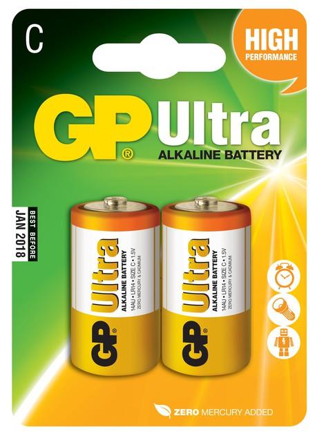 GP B1931 14AU R14 blistr06 - Baterie GP Ultra C 2ks - blistr