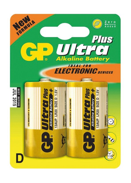 GP B1941 13AU R20 blistr06 - Baterie GP Ultra D 2ks
