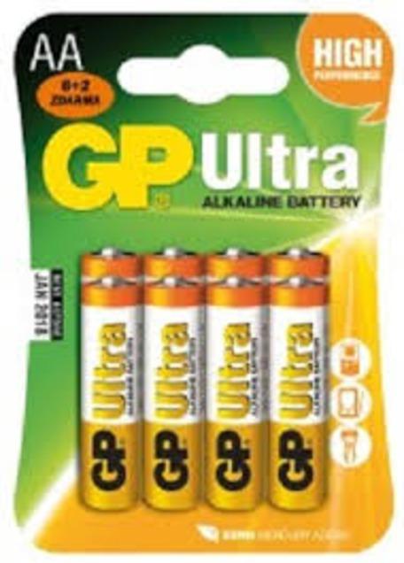 GP B19218 15AU LR6 BLISTR 6+2 - Baterie GP Ultra Alkaline AA 8ks
