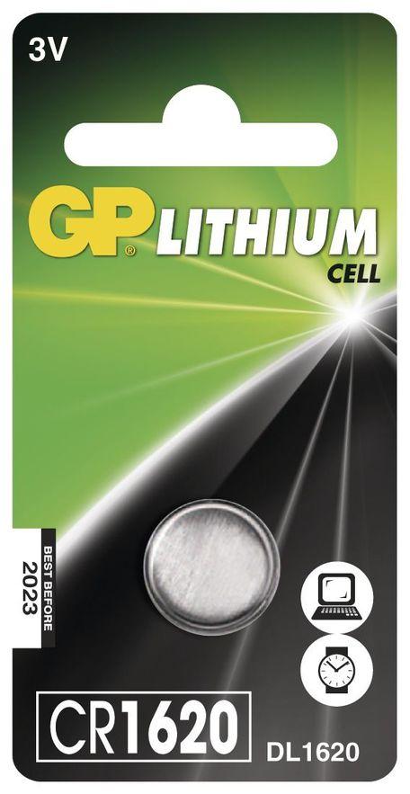 GP B15701 BAT. KNOF. CR1620 1BL - Baterie GP CR1620 1ks