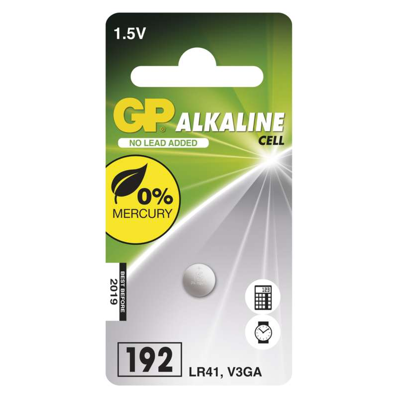 Baterie GP LR41 1ks - GP 192 1ks 1041019211