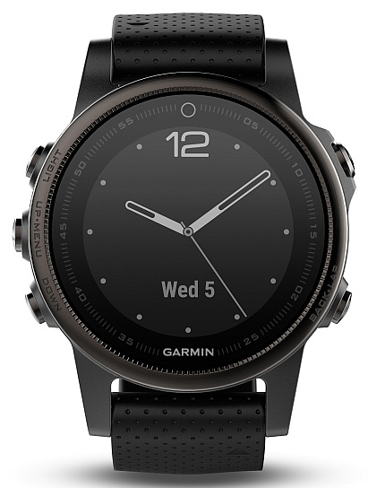Garmin Fenix 5S Sapphire Gray Optic černé