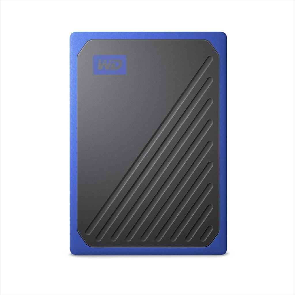 Western Digital My Passport GO - 500GB SSD, modrá