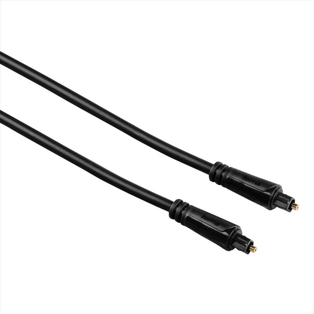 Hama optický audio kabel ODT, Toslink vidlice-vidlice, 3*, 0,75 m - Hama 122255