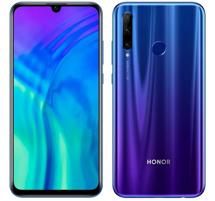 Honor 20 Lite gradientní modrá