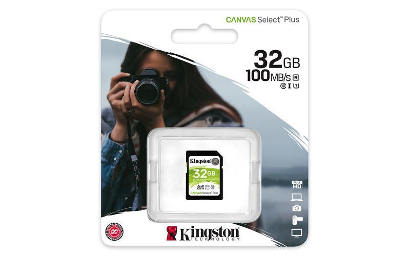 Kingston Canvas Select Plus SDHC 32GB Class 10 UHS-I - Kingston SDHC UHS-I U1 32GB SDS2/32GB