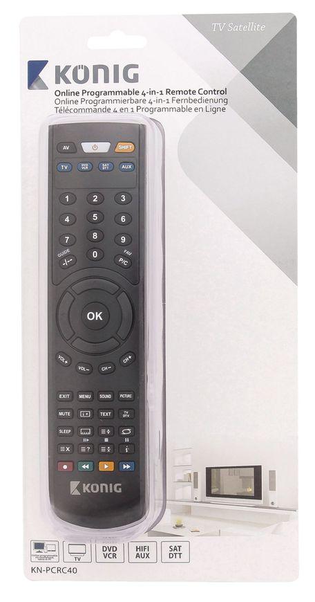 König Dálkový ovladač 4v1, KN-PCR40