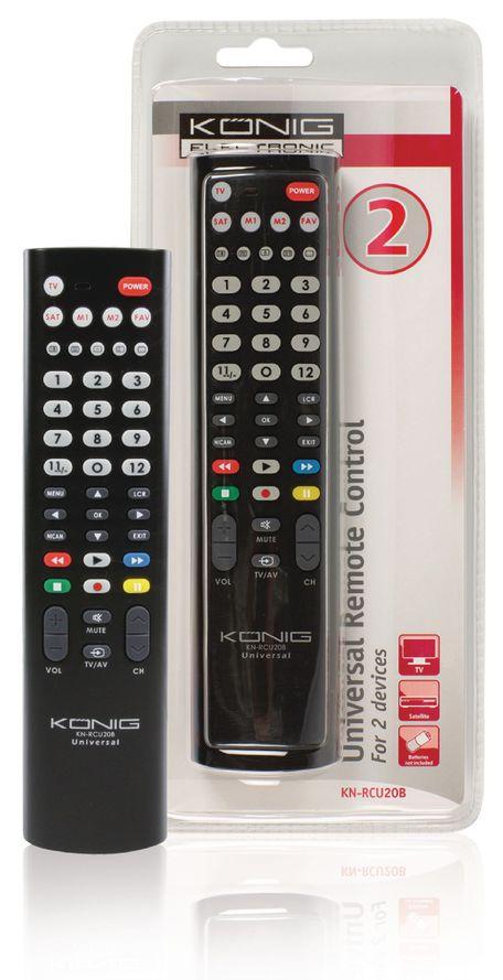 König Dálkový ovladač pro 2 TV KN-RCU20B