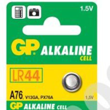 GP A76, knoflíková alkalická baterie kompatibilní s AG13, LR44 - Baterie GP A76 5ks