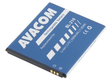 AVACOM GSLE-BL210-2000 Li-Ion 3,7V 2000mAh - neoriginální - Baterie do mobilu Lenovo A536 Li-Ion 3,7V 2000mAh (náhrada BL210)