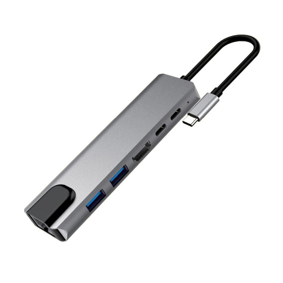 MKF USB-C 6v1, HDMI 4K, RJ45 MKF-USBC61