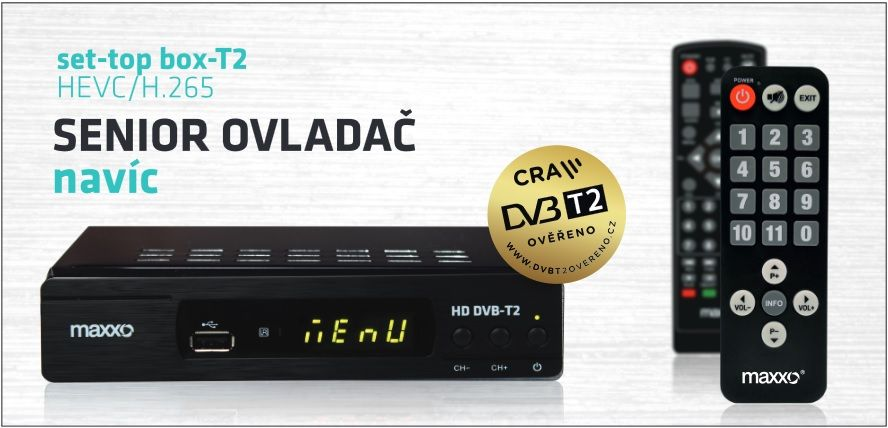 Maxxo DVB-T2 HEVC/H.265 Senior - Maxxo STB T2