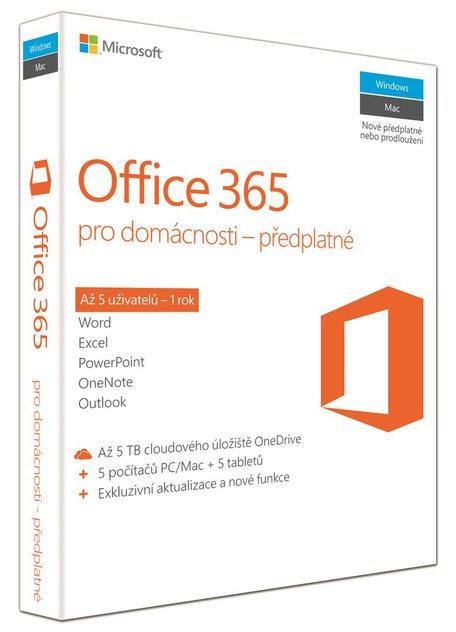 Microsoft Office 365 pro domácnosti CZ 6GQ-00721