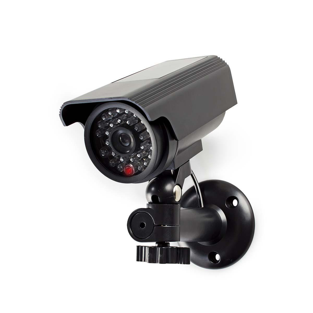 Nedis DUMCBS10BK - Atrapa Bezpečnostní Kamery   Válcové kamery   IP44   Černá barva