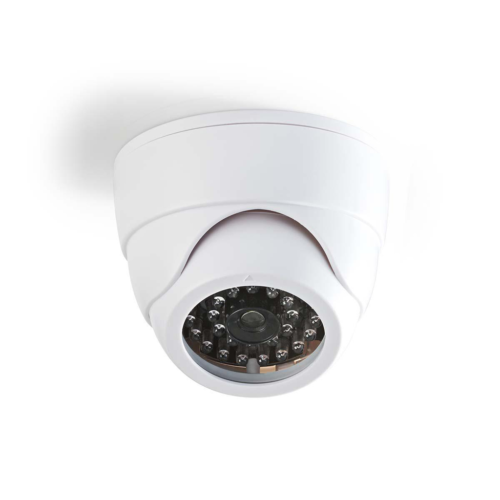 Nedis DUMCD30WT - Atrapa Bezpečnostní Kamery | Kamera s kopulovým krytem | Bílá barva