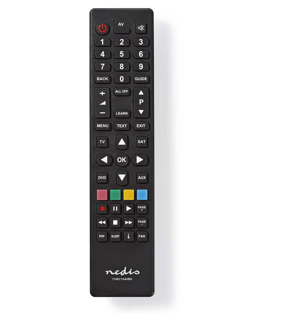 Nedis TVRC1040BK - Univerzální dálkový ovladač | Programovatelný z počítače | Ovládání 4 Zařízení