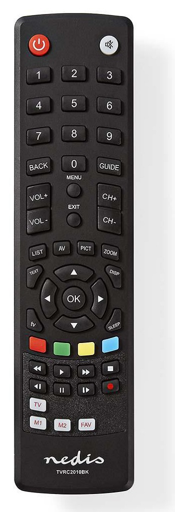 Nedis TVRC2010BK - Univerzální dálkový ovladač | Předem naprogramovaný | Ovládání 1 Zařízení