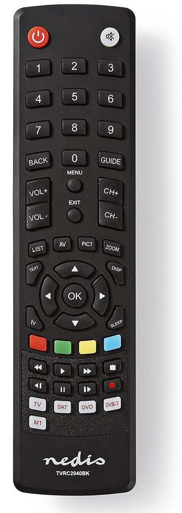 Nedis TVRC2040BK - Univerzální dálkový ovladač | Předem naprogramovaný | Ovládání 4 Zařízení