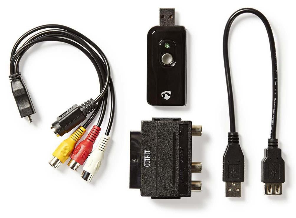 Nedis VGRRU100BK - Video Grabber | A/V kabel / Scart | Včetně softwaru | USB 2.0