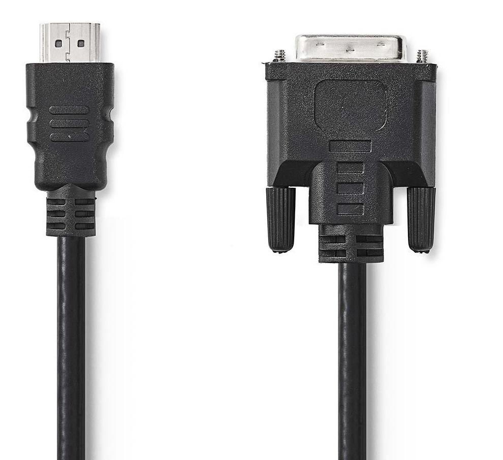 Nedis Kabel HDMI – DVI 3m CCGB34800BK30