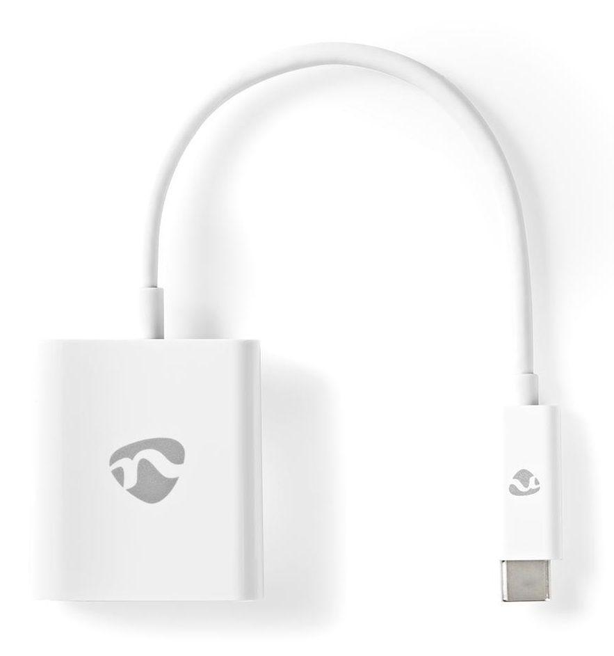 NEDIS kabel USB-C™ s adaptérem/ USB-C™ zástrčka – HDMI™ zásuvka/ bílý/ blistr/ 20cm